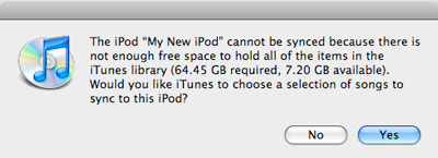 Syncing new playlists to iPod nano 1