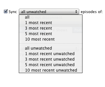 Syncing TV Shows to iPod 2