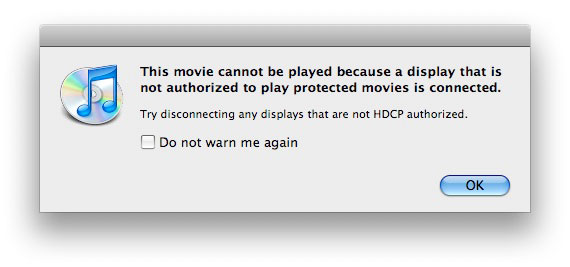 iTunes Store HD Movies Don't Play on My Monitor: Solutions 1