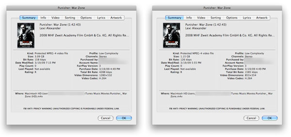 iTunes Store HD Movies Don't Play on My Monitor: Solutions 2