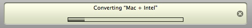 iTunes Converting Status in Header