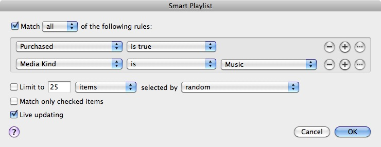 Identifying purchased tracks in iTunes 1