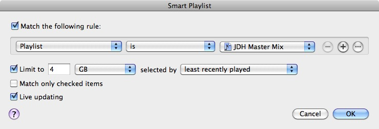 Syncing playlists to iPod 1