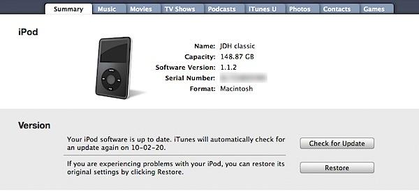 Reformatting iPod for Mac 1