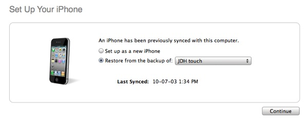 Upgrading to a new iPod touch 2