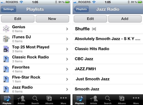 Accessing Internet Radio from iOS Remote app