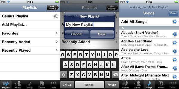 On-The-Go Playlists with iOS 4 1