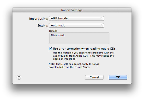 Track information not appearing when importing into iTunes 1