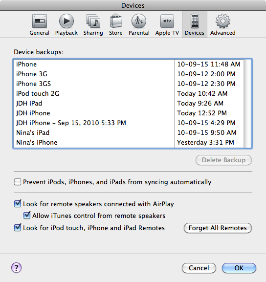 Reset passcode on iPod touch 1
