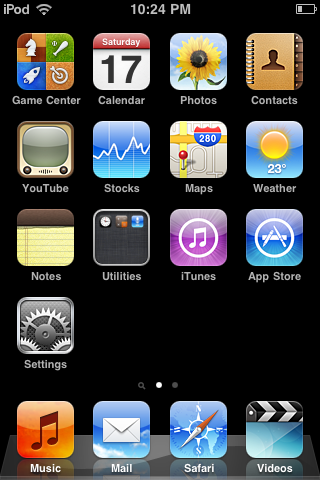 Editing Contacts on iPod touch 1