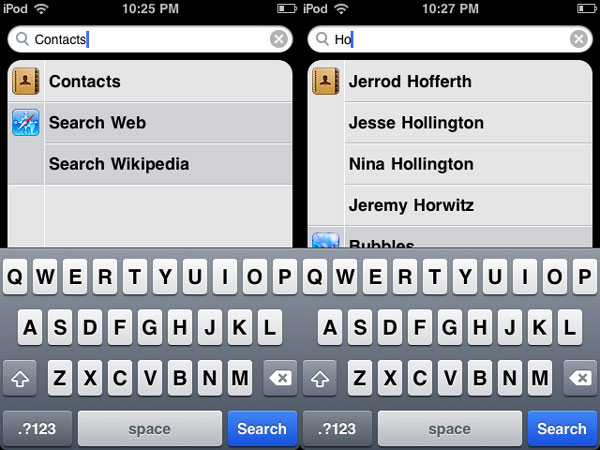 Editing Contacts on iPod touch