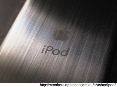 Dealing with a scratched iPod backing 1