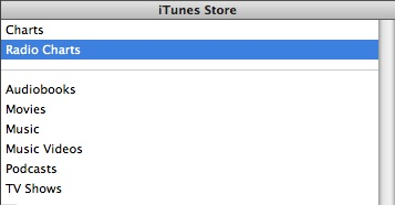 Radio Charts in iTunes