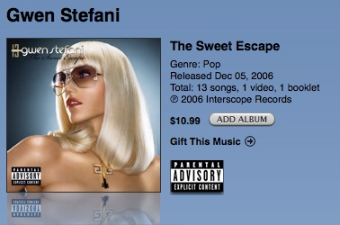 Gifting specific items from the iTunes Store 1