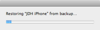 iPhone backup and restore
