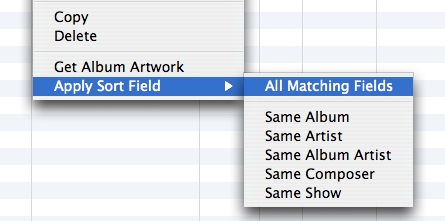 Understanding the new sort fields in iTunes 7.1