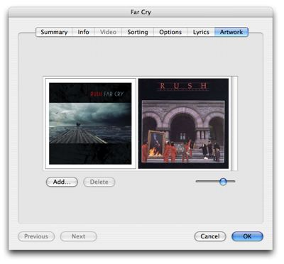 Assigning artwork to multiple tracks