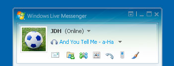 Showing current track in Windows Messenger 3