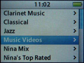 Music videos on 2G iPod nano 1