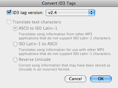 About iTunes and ID3 tags