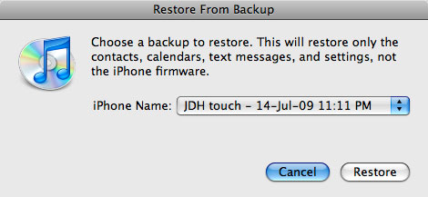 Transferring saved application data to new iPhone 3