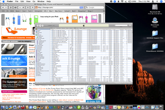 Viewing more iTunes data on the screen at once 1