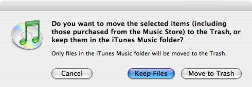 Deleting songs from iTunes 2