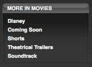 Movie trailers in the iTunes Store 1
