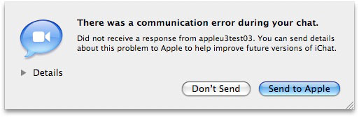 iChat Video Problems + Solutions, or Don't Return Your New Mac Yet 1