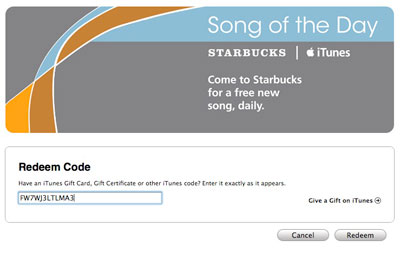 The Starbucks Song of the Day, DRM-Free