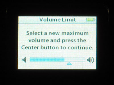Limiting Your iPod's Maximum Volume