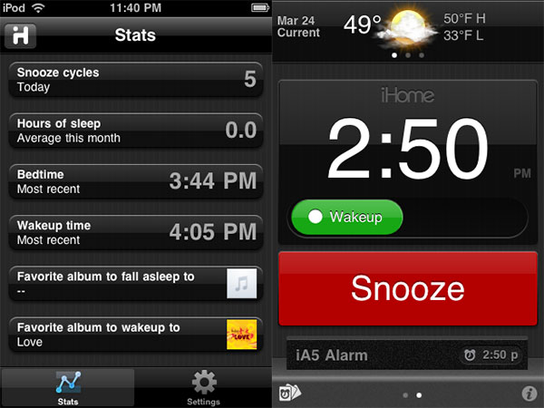 Review: iHome iHome+Sleep App