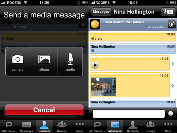 iPhone Gems: iPhone OS 3.0 Instant Messaging (IM) Apps