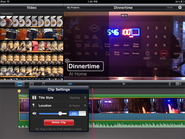 Review: Apple iMovie for iPad 2