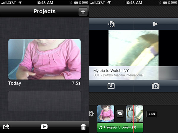 Review: Apple iMovie for iPhone 1