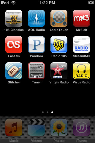 iPhone Gems: 12 Internet Radio Apps for iPhone + iPod touch 3