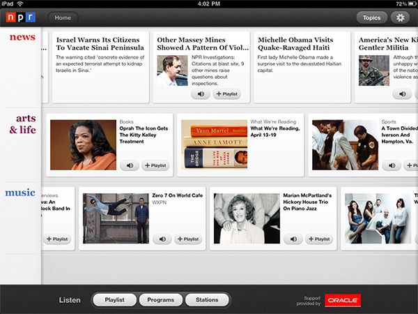 iPad Gems: 15 Apps, Including AIM, eBay, Epicurious, NewsRack, NPR + TweetDeck