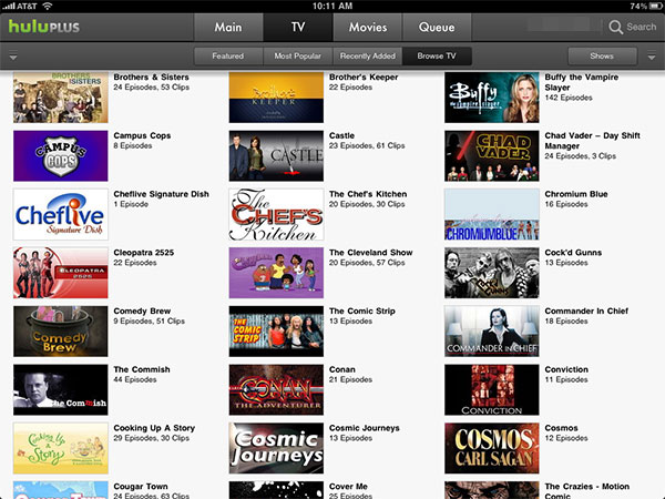 iPhone + iPad Gems: Articles, Hulu Plus, Netflix + Times for iPad 8