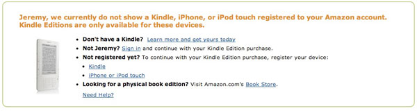 Review: Amazon Kindle for iPhone