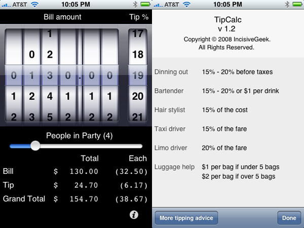 iPhone Gems: All 30 Tip Calculators + Meal Splitters, Reviewed