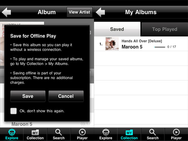 iPhone Gems: Napster and Rhapsody