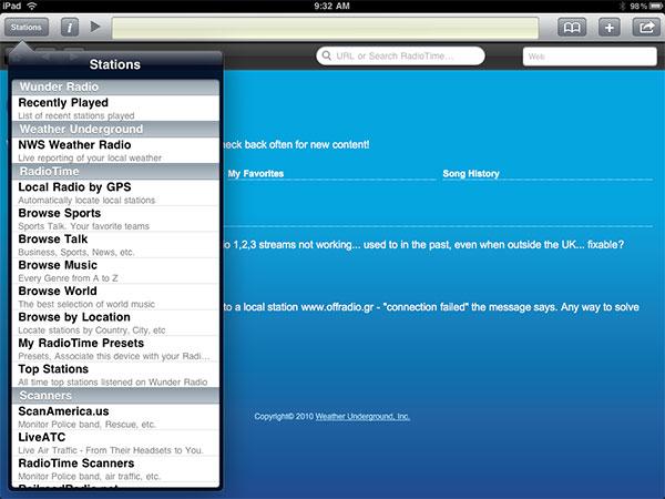 Small Apps + Updates: FlightTrack, Flight Update, River of News, ooTunes, Tuner + Wunder Radio 14