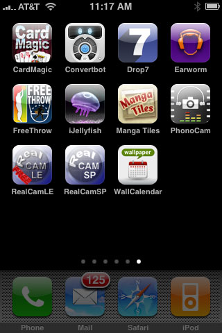 Weird + Small Apps: Drop7, ConvertBot, PhonoCam, RealCamSP, EarWorm, iJellyFish + Much More 1