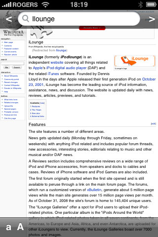 iPhone Gems: Wikipedia Apps 43