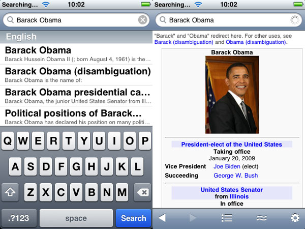 iPhone Gems: Wikipedia Apps 4