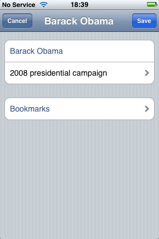iPhone Gems: Wikipedia Apps 5