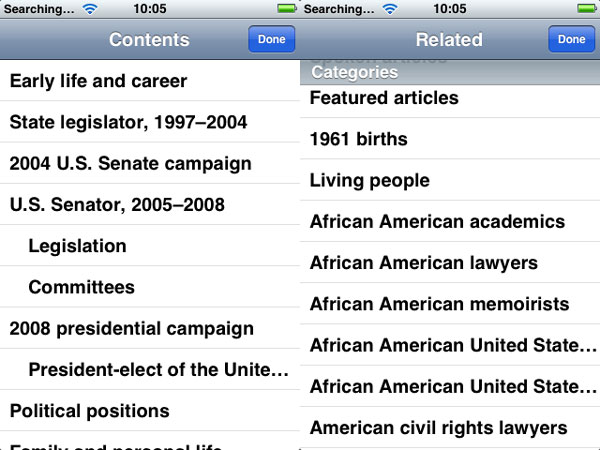 iPhone Gems: Wikipedia Apps 6