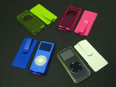 DLO nanoShell Crystal Clear Case with Belt Clip for iPod nano