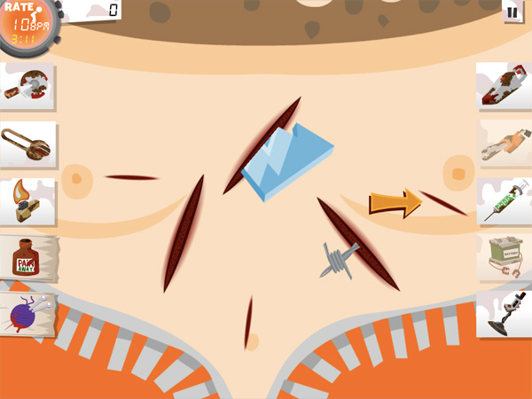 iPhone + iPad Gems: Amateur Surgeon 2 HD, Flick Rocket, Popstar Physics (Save Toshi 2) + Qvoid 5