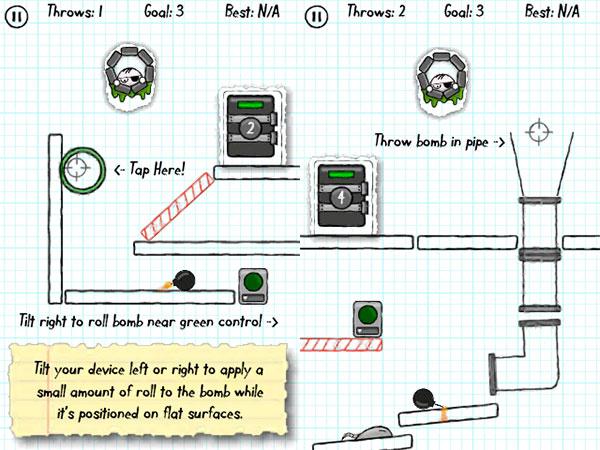 iPhone Gems: Doodle Bomb, Isaac Newton's Gravity + Tumbledrop 3